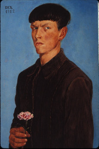 Self-Portrait with Carnation
