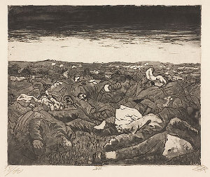 Abend in der Wijtschaete-Ebene (Nov. 1917) <br /><i>Evening on the Wijtschaete Plain - Nov 1917</i>