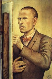 Otto Dix - self portrait with easel